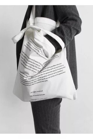 COTTON BOLT BAG