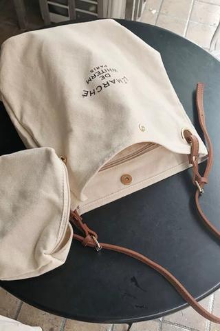 (BACK-ORDER) CANVAS BOLT BAG