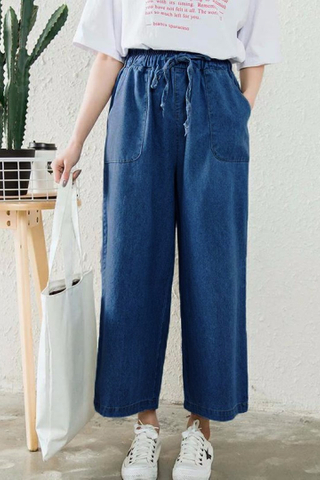 DENIM CULOTTE PANTS