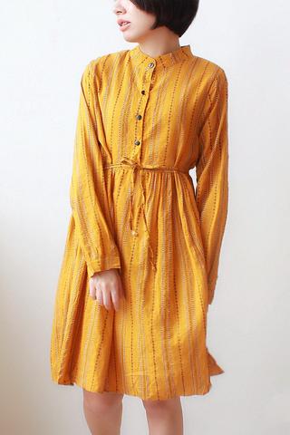 Long-sleeve Print Maxi Dress
