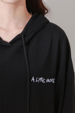 Oversized long hoodie