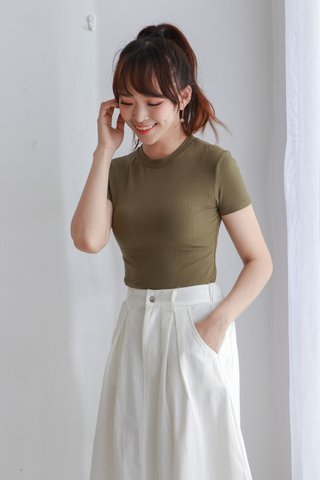 Knit Basic Crop Top