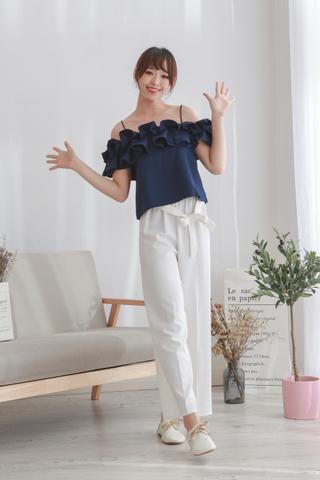 Linen Cotton High Waist Pants