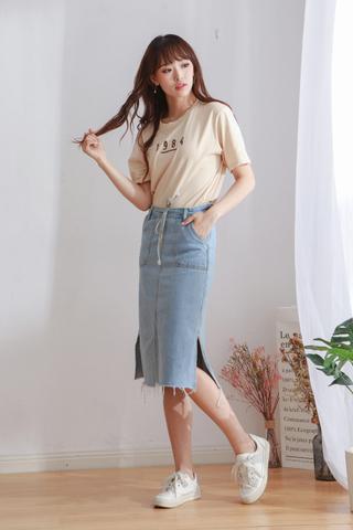 Denim Ankle Skirt