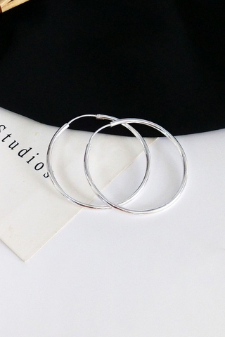 Silver Oversized Hoop Earring