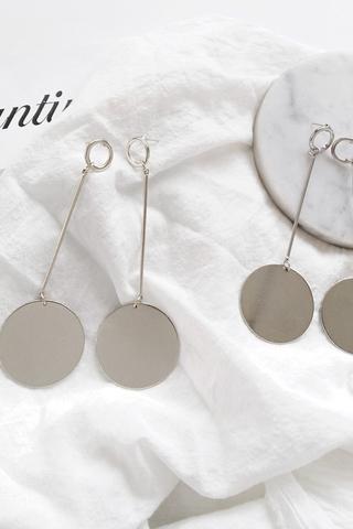 Circle Long  Line Hoop Earrings