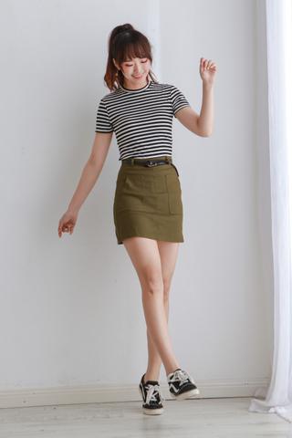 High Waist Mini Skirt