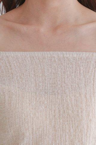 Beige Wrinkle Tube Top