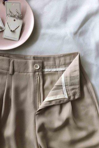 High Waist Beige Trousers
