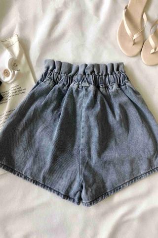Denim Pocket  Crimping Short