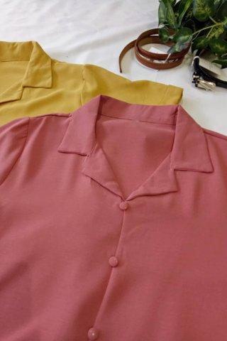 Casual Button Collar Blouse