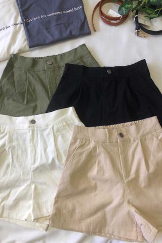 High Waist Straight Shorts