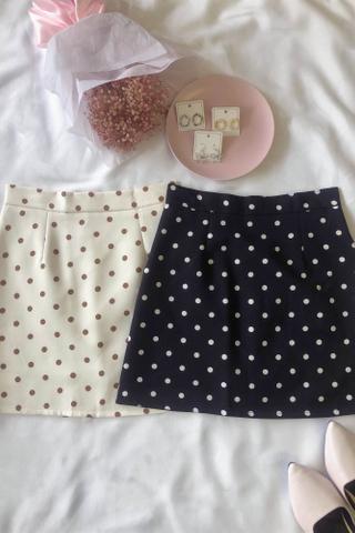 Printed Polka Dot Skirt