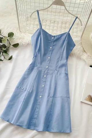 Pocket Button Down Dress