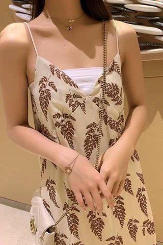 Printed Strap Cami Midi Dress
