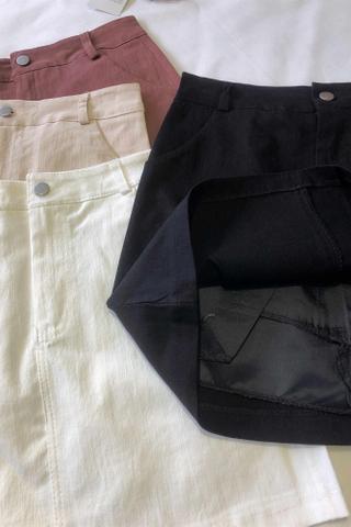 Plain Color Mini Skirt