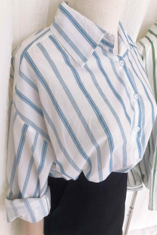 Straight lines long-sleeved shirt